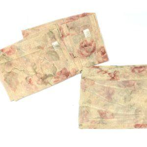 Croscill Luxury Curtains Set 3 Valances Floral